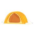 one modern hemisphere tourist tent isolated vector image
