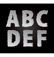 paper alphabet part 1 vector image vector image