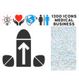 penis enlargement tablets icon with 1300 medical vector image vector image