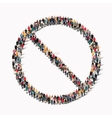 people shape stop sign ban vector image