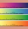 philadelphia multiple color gradient skyline vector image vector image