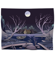 Pond in the night vector image
