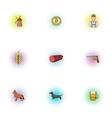 Pub icons set pop-art style vector image vector image