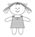 ragdoll girl vector image vector image