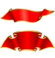 red ribbon collection vector image vector image
