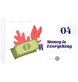 salary and money profit website landing page tiny vector image vector image
