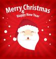 santa claus and snow theme merry christmas vector image
