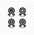 set of award icon simple flat style vector image vector image