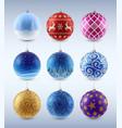set ofchrictmas balls vector image