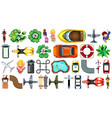 set various object top view vector image vector image