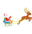 sledge of santa claus vector image vector image