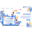 social media online blogger business character vector image vector image