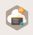 software secure cloud icon in flat style vector image vector image