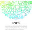 sports line concept vector image vector image