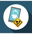 Technical service call center icon support vector image