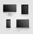 technological devices collection set vector image vector image