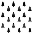 tree christmas monochrome seamless pattern vector image vector image