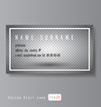 visit card with transparent layer vector image vector image