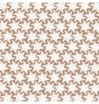 white flower pattern on brown background vector image vector image