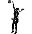 woman beach volleyball player vector image