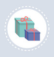 wrapped gift box present shopping icon concept vector image