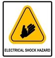 Electrical Shock Hazard symbol vector image