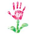 print palm flower vector image