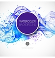 Watercolor wave background vector image