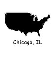 1275 chicago il on usa map vector image