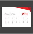 2019 happy new year december calendar template
