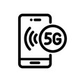 5g line icon vector image vector image