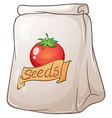 A pouch of tomato seeds vector image