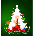 A white christmas tree vector image vector image