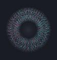 abstract human eye circle frame technology concept vector image vector image
