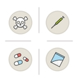 Addictions icons vector image vector image