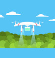 agriculture drone flight on forest design