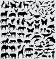 Animals silhouette set vector | Price: 1 Credit (USD $1)