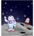 Astronaut landing on the moon vector image vector image