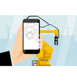 augmented reality in engineering vector image vector image