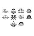 Automotive badges vector image