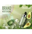 avocado beauty cosmetics oil ad organic essence vector image