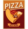 banner with slice of pizza vector image