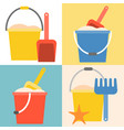 beach toys pail and shovel vector image vector image