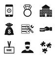 big salary icons set simple style vector image