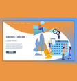 business man grow up corporate career banner vector image