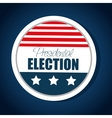 button flag usa election presidential graphic vector image