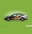 car decal wrap design with abstract orange stripe