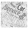 Car Service Contracts Full Service Or Foolish