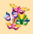 carnival mask design vector image vector image