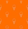 cold ice cream pattern orange vector image vector image